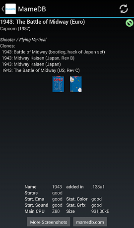 MameDB - An Android app for maintianing your Mame ROMs